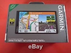 GARMIN Drive Smart 7 with Lifetime Maps And Traffic New In Open Box D
