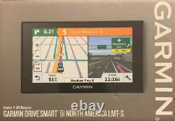 Garmin DriveSmart 51 LMT-S 5 GPS with Built-In Bluetooth Lifetime Map Updates NEW