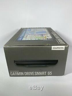 Garmin DriveSmart 65 LMT-S Car GPS Sat NavLifetime Full Europe Map+Live Traffic
