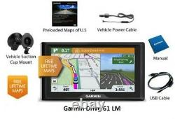 Garmin Drive 61LM US GPS with FREE Lifetime Map and Traffic Updates
