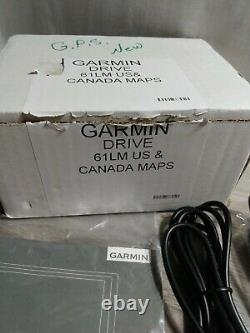 Garmin Drive 61 LM GPS United States and Canada Maps Lifetime Maps New Open Box