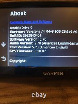 Garmin Drive 6 LM EX 6 GPS with Lifetime Maps Update, Driver Alerts