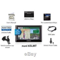 Garmin Nuvi 65LMT 6 GPS Lifetime Maps & Traffic Updates, IN WHITE BOX PACKAGE