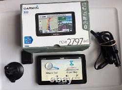 Garmin nüvi 2797LMT 7 GPS Bluetooth LIFETIME MAPS in box with Mount, Wires, Paper