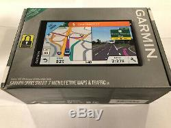 New sealed! GARMIN DRIVE SMART 7 WITH LIFETIME MAPS & TRAFFIC
